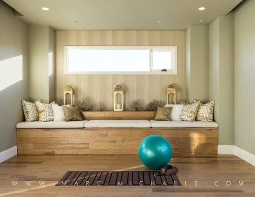 Yoga room exercise room 2014 new american home at the - Yoga meditation room ideas ...