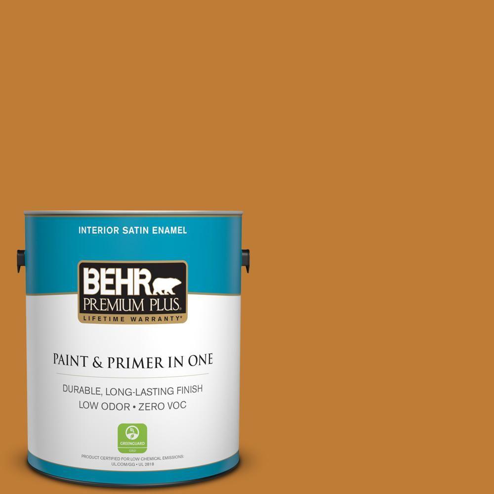 BEHR Premium Plus 1-gal. #S-H-310 Autumn Fest Zero VOC Satin Enamel Interior Paint