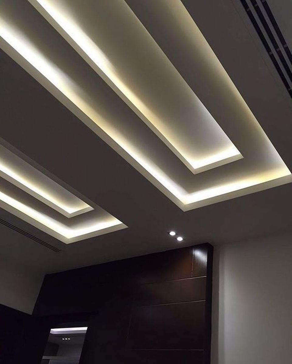 cove lighting design. 70 Modern False Ceilings With Cove Lighting Design For Living Room