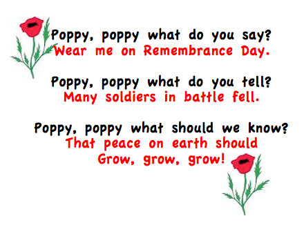 Don't forget your Poppy! 6804f90643282aa594c43267274b3dc5