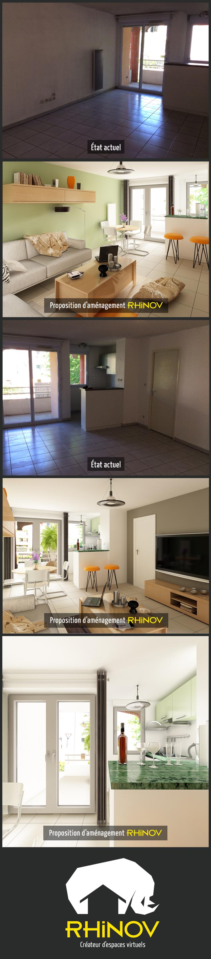 Rhinov Salle De Bain ~ projet de d coration d un appartement dans la haute garonne