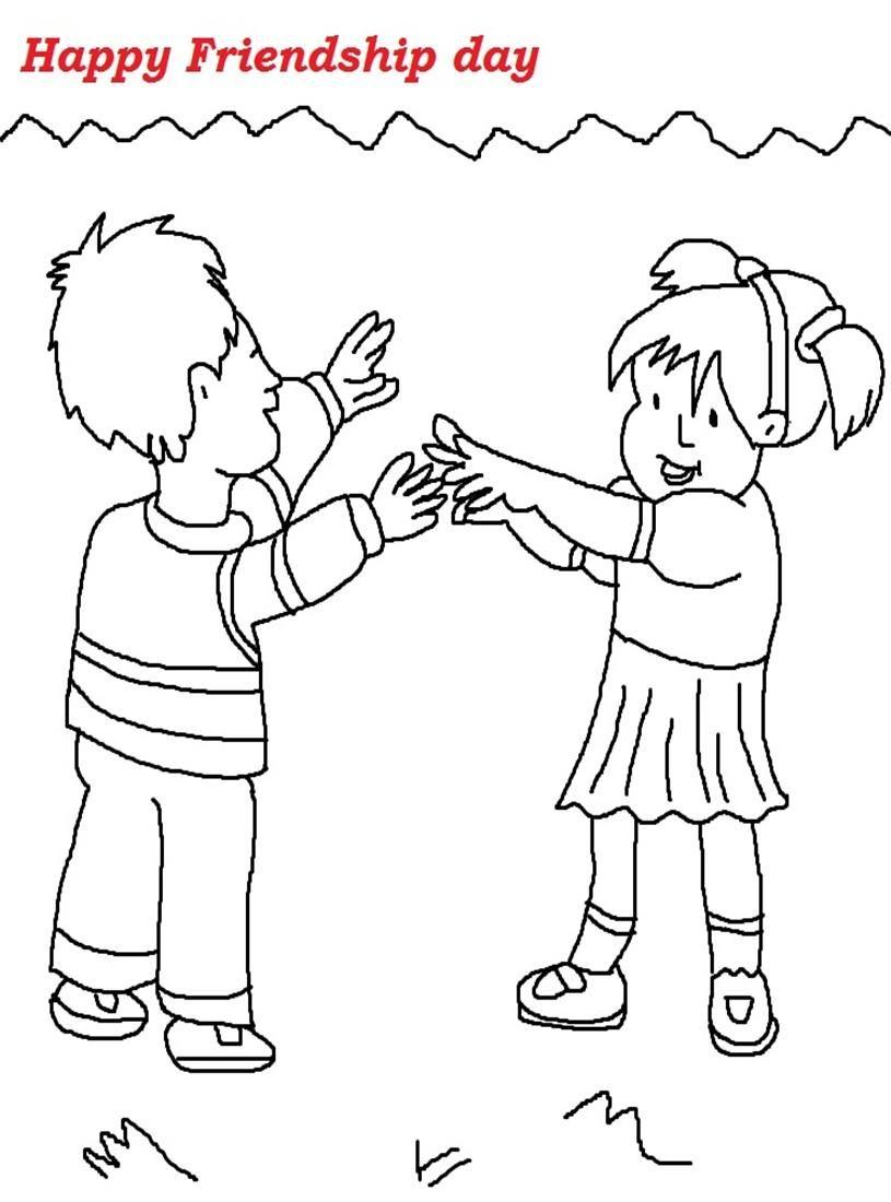 Friendship Day Coloring Pages | Raksha Bandhan 2014 | Pinterest ...