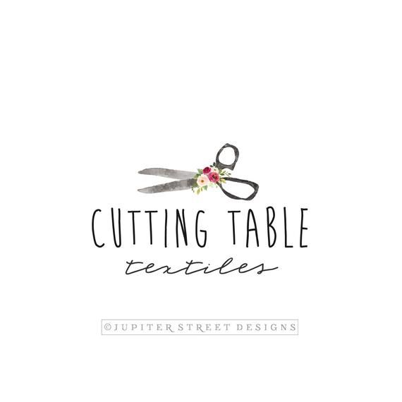 Premade Logo Sewing Logo Craft Logo Scissors Logo Simple Logo