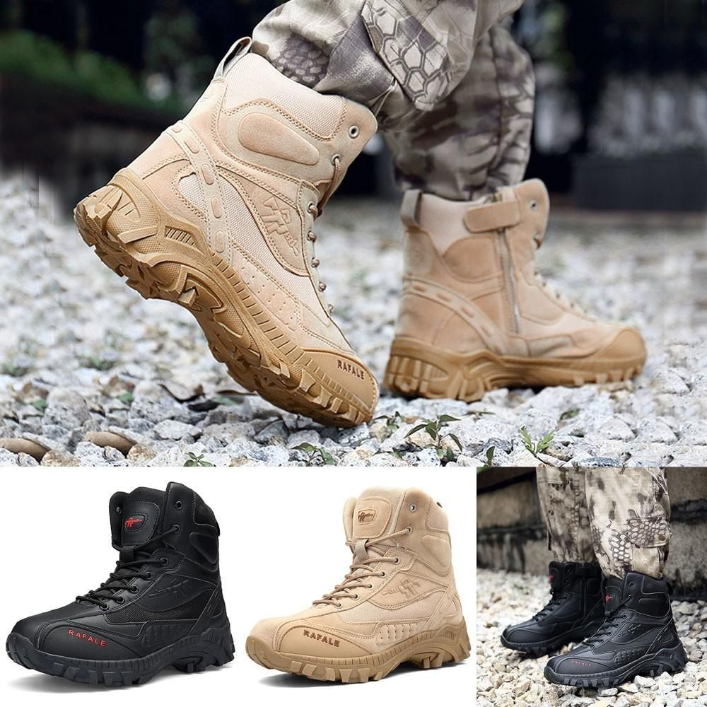 Men Military Boot Tactical Desert Combat Ankle Boat Army Work