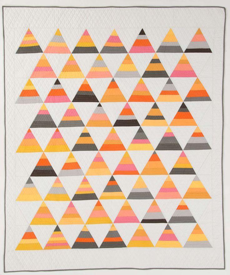 candy corn quilt | Triangle Quilts | Pinterest : candy corn quilt - Adamdwight.com
