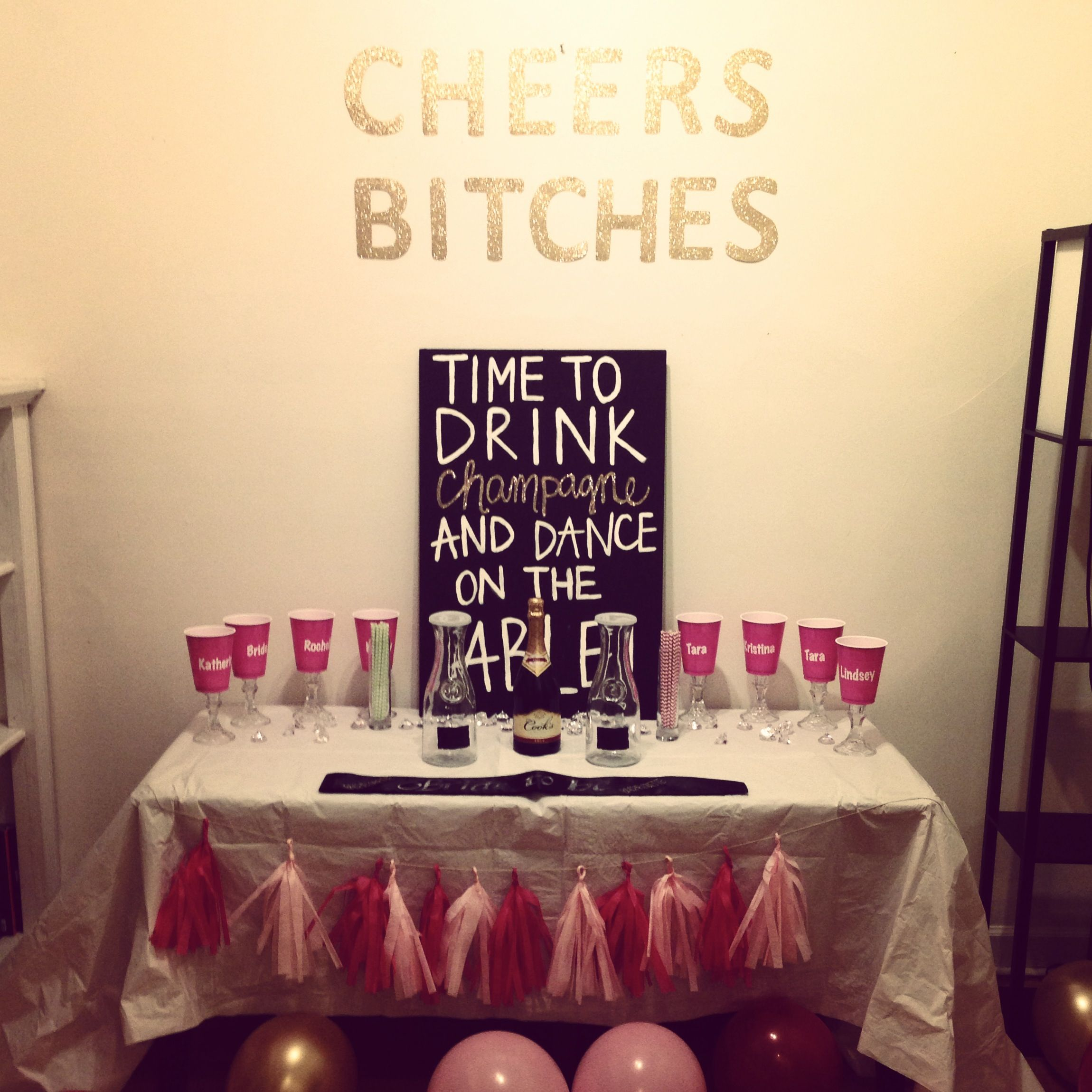 i crafted all this up for the bachelorette party of one of my best