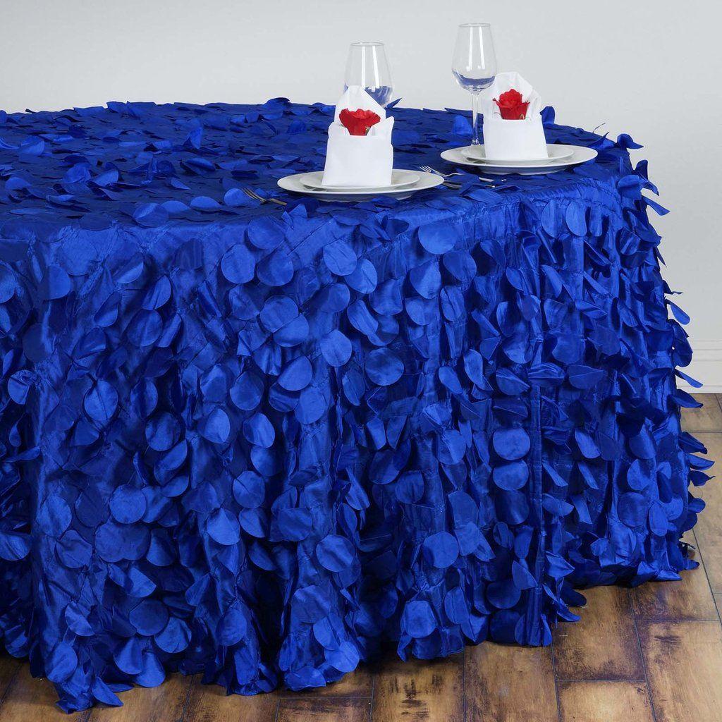 120 Royal Blue Round Flamingo Petals Tablecloth Royal Blue