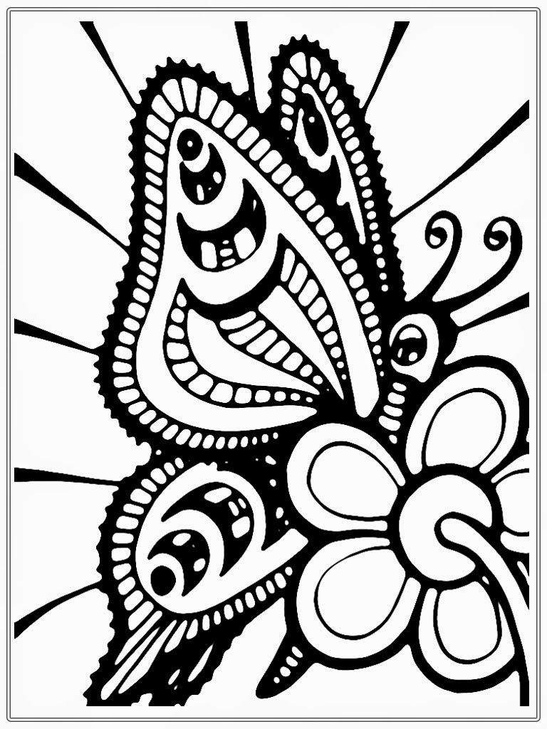 Free coloring pages butterfly - Adult Coloring Pages Free Butterflies