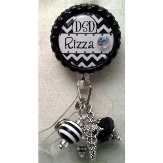 Badge Reel Embellished with Beads