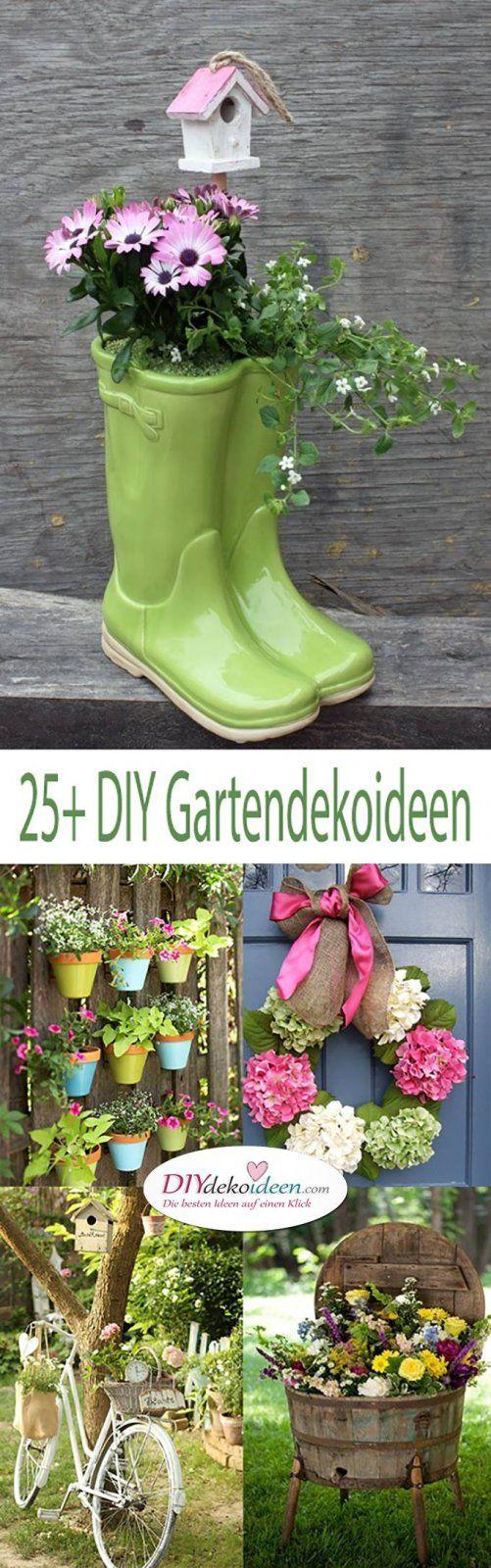 DIY Gartendeko Selber Machen U2013 25+ Dekoideen Für Den Frühling | Zukünftige  Projekte | Pinterest | Garten, Gardens And Planters