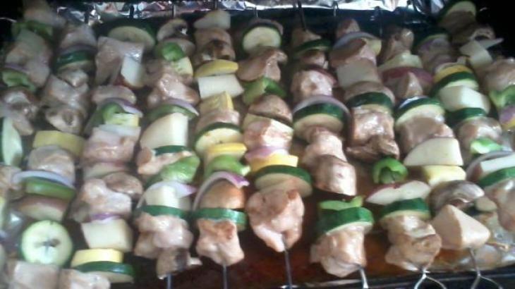 Baked Chicken Kabobs