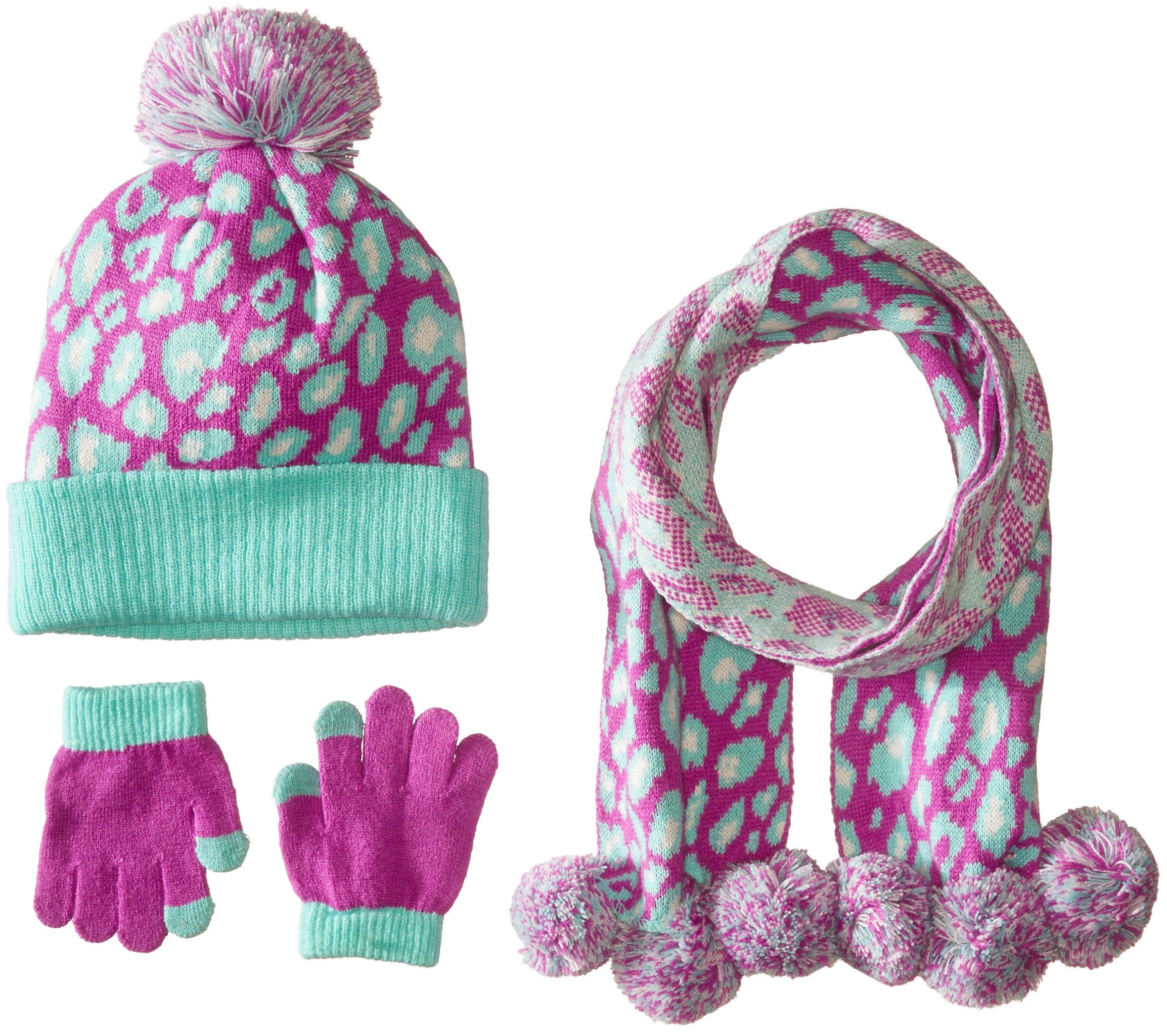 3d400df57a5 Pink Platinum Big Girls Hat Glove Scarf 3 Piece Set- Leopard