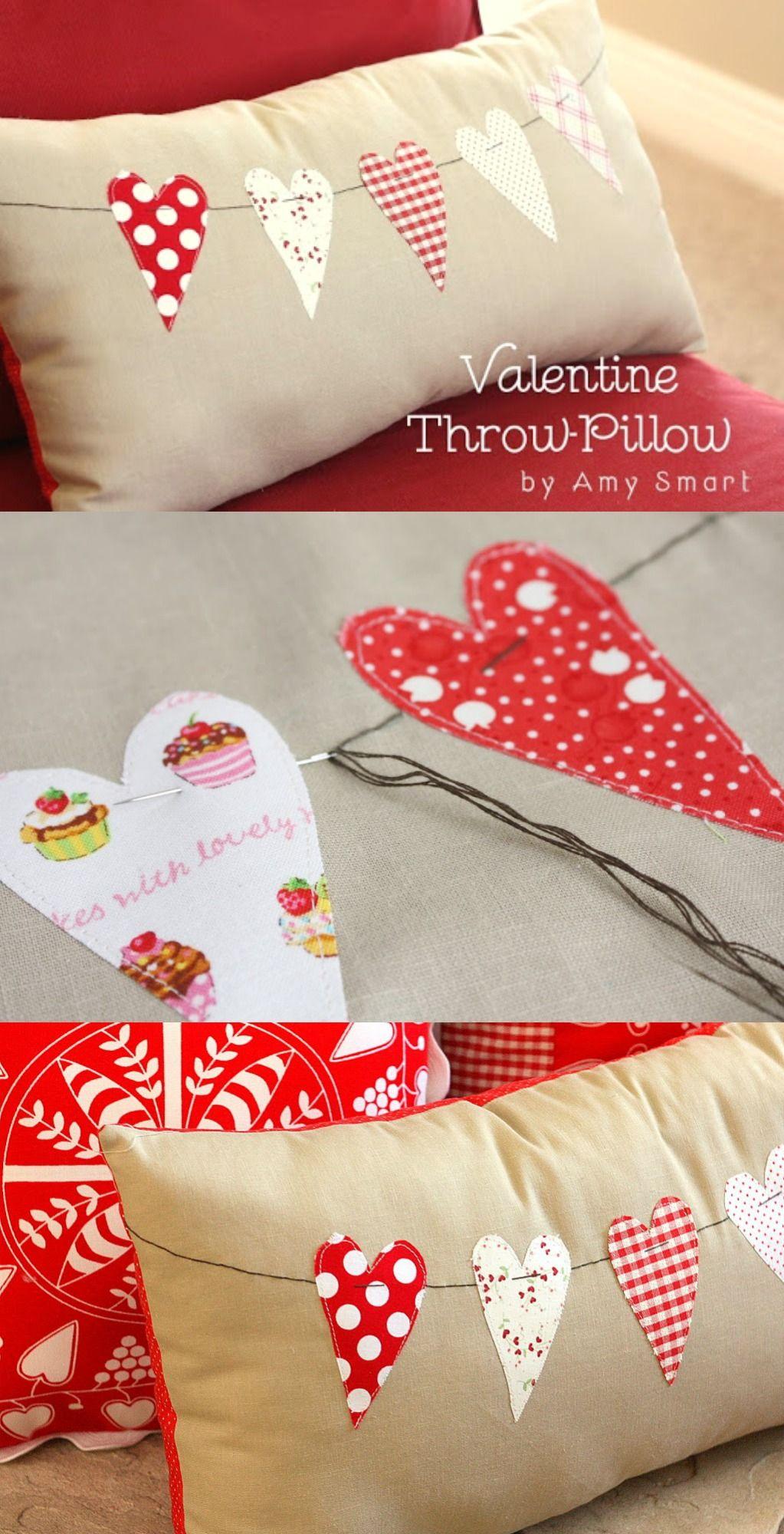 Valentine Throw Pillow Tutorial | Bloggers Best | Pinterest ...