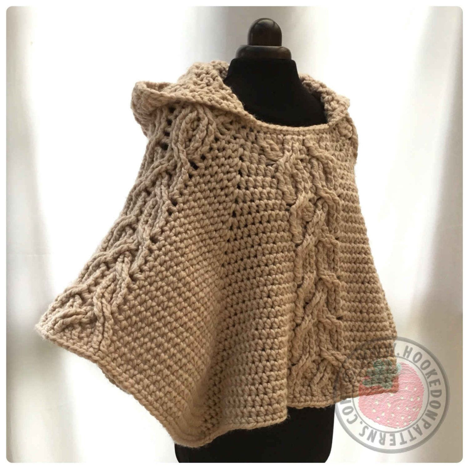 Milena twist cable hooded poncho crochet pdf pattern patrones milena twist cable hooded poncho crochet pdf pattern bankloansurffo Image collections
