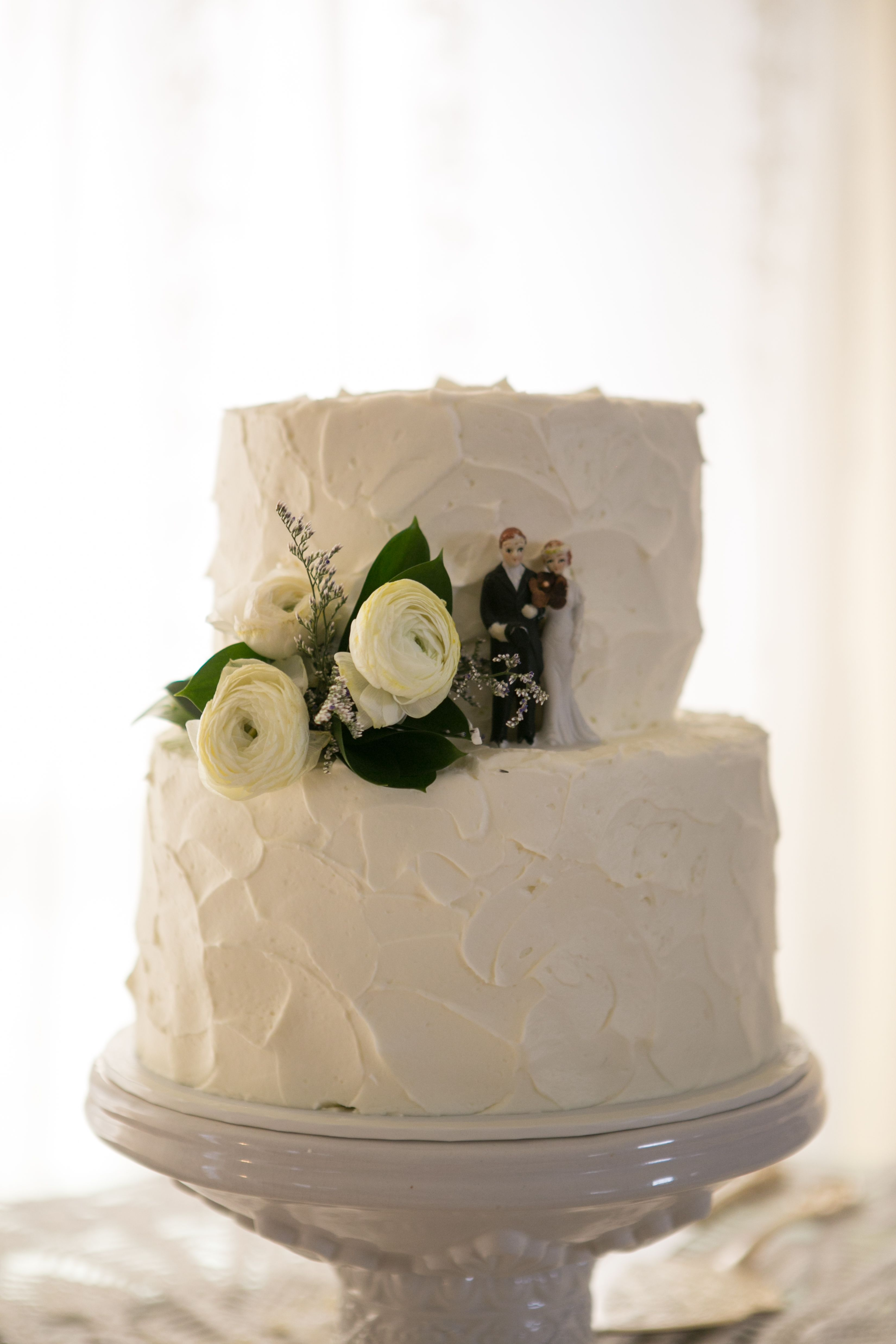 Wedding cake two layers antique wedding cake topper lovely