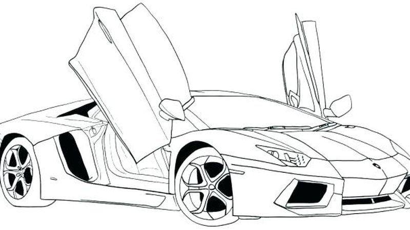 Drag Race Car Coloring Pages Mobil Balap Halaman Mewarnai Warna