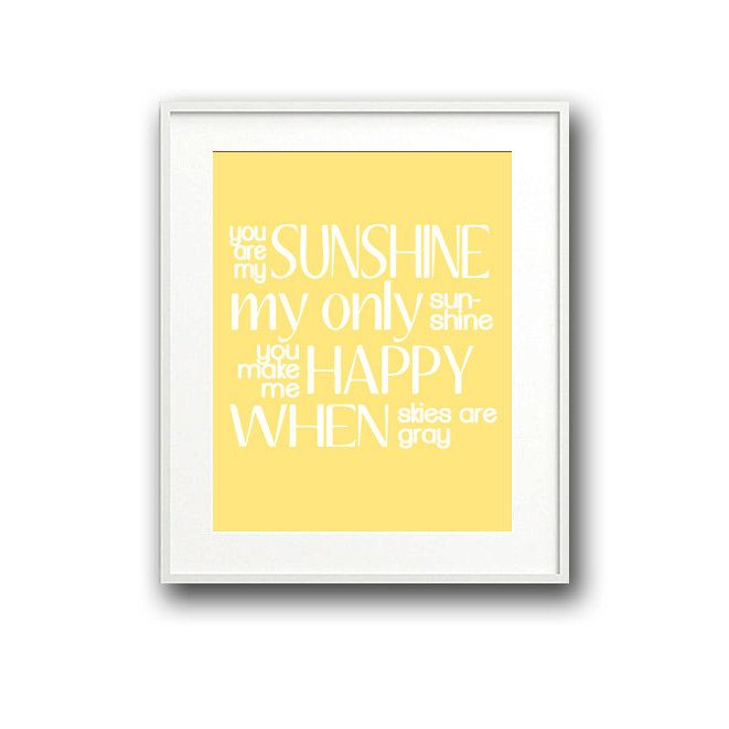 FRAMED Children\'s/Baby Nursery Rhyme Typography Art Print You Are My ...