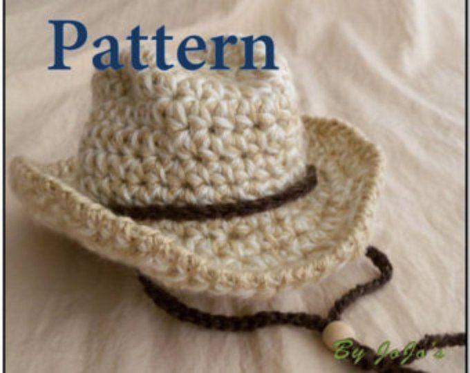 Baby Cowboy Hat PATTERN - Baby Cowboy Hat - Western Hat Pattern ...