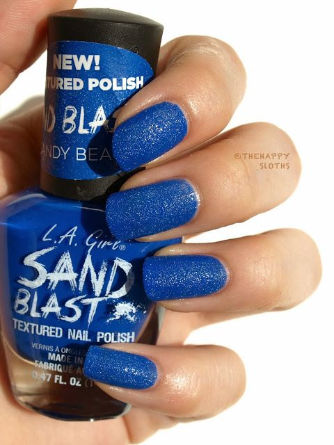 The Happy Sloths: L.A. Girl Sand Blast Textured Nail Polish in ...