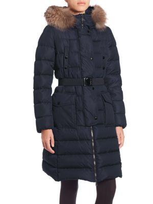 MONCLER Khloe Fur-Trimmed Puffer Jacket. #moncler #cloth #jacket