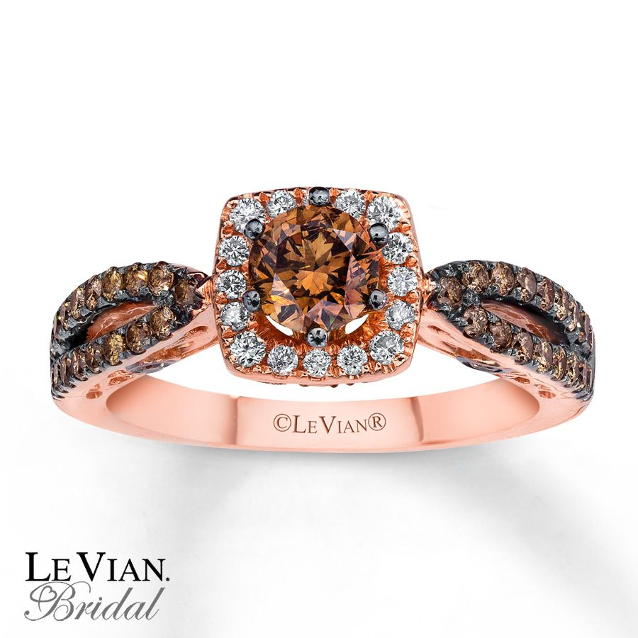 le vian bridal chocolate diamonds gold engagement ring this is my ida of an engagement ring gorgeous - Chocolate Diamonds Wedding Rings