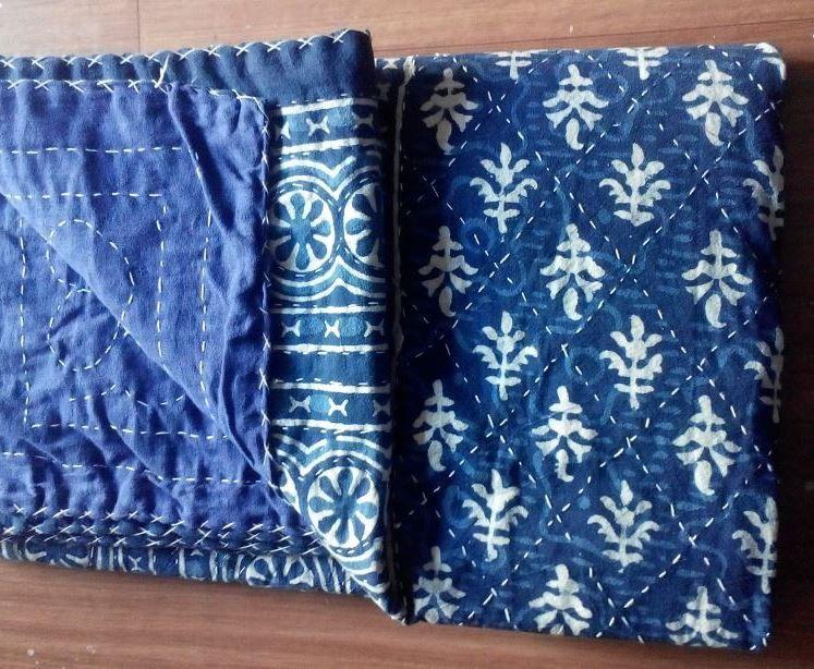 Decorative Quilts & Bedspreads Spirited Vintage Kantha Quilt Indian Handmade Cotton Bedspread Sashiko Throw Bedding Bedding
