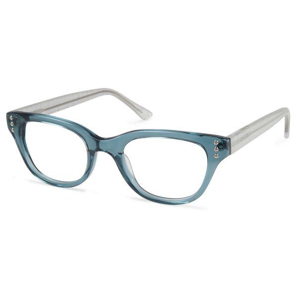 Cynthia Rowley Eyewear CR5020 No. 22 Teal Fade Round Plastic ...