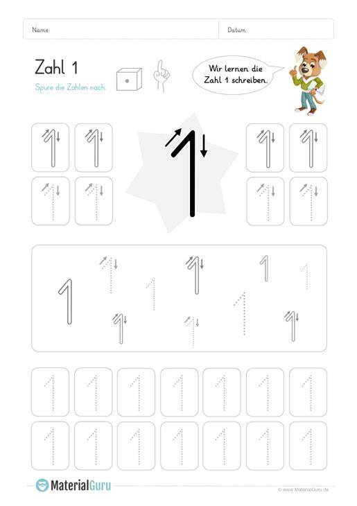 ein kostenloses mathe arbeitsblatt zum schreiben lernen der zahl 1 auf dem die kinder. Black Bedroom Furniture Sets. Home Design Ideas