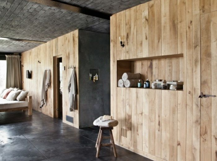 30 id es pour le rev tement mural bois int rieurs pinterest revetement mural bois. Black Bedroom Furniture Sets. Home Design Ideas
