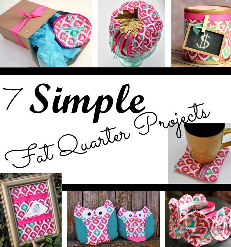 Fat Quarter Fabric Craft Storage Bag Mini Pink