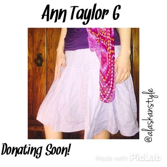 🆑Ann Taylor Loft linen skirt 6 Super cute Ann Taylor Loft midi pleated skirt. Violet purple, size 6, EUC Ann Taylor Skirts Midi