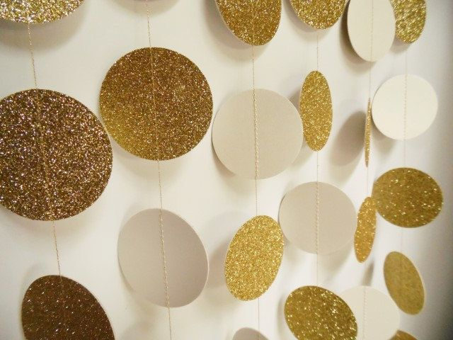 Awesome Gold Circle Garland