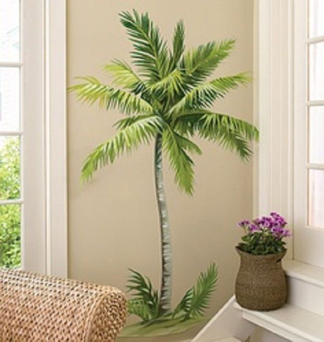 Innovative Style Of Decor With Palm Tree Wall Decals: Palm Tree Wallies ~  Virtualhomedesign.