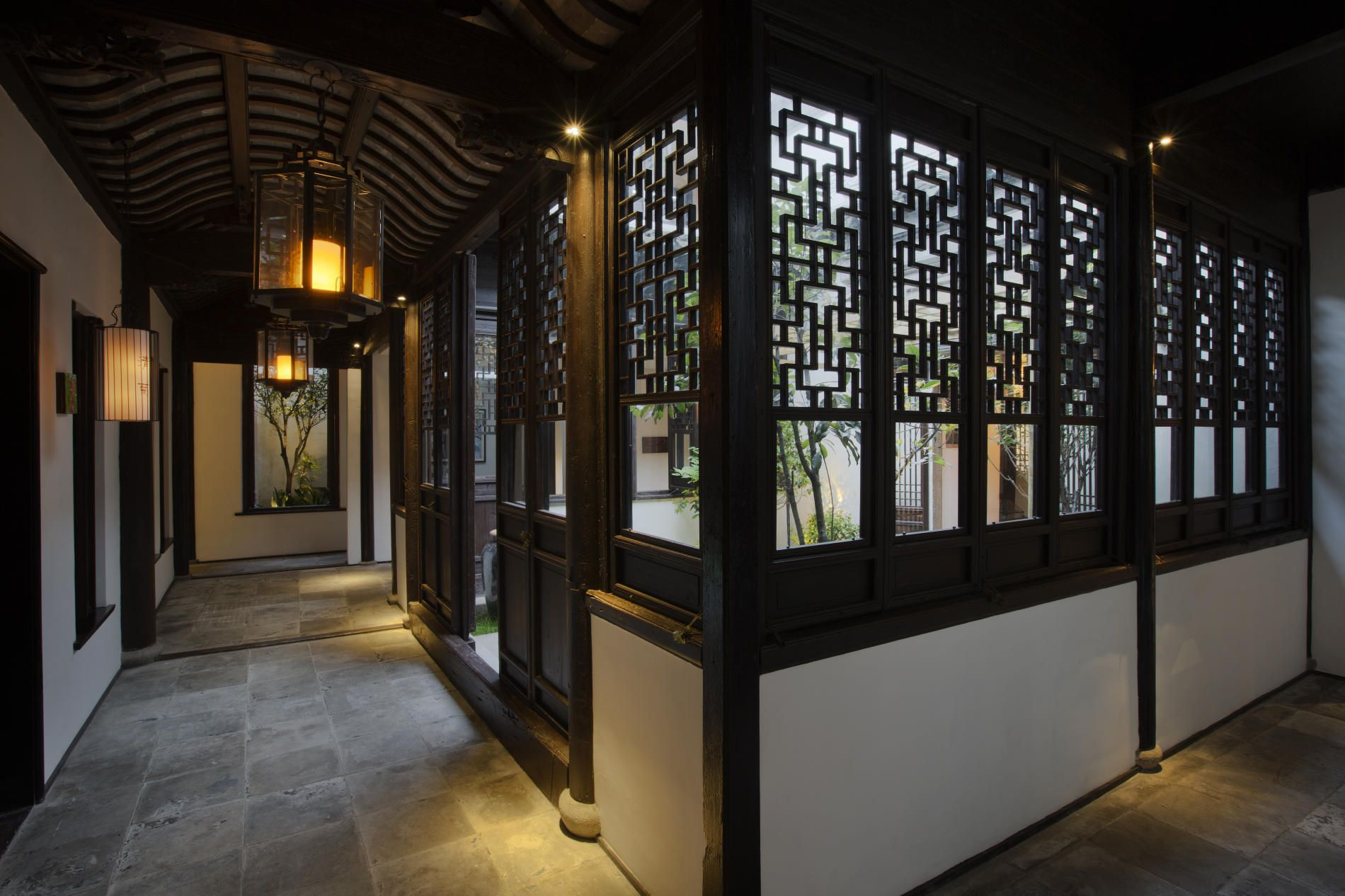 Asian Style Lighting contemporary tropical modernism interiors traditional style hotel
