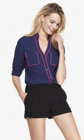 CONTRAST PIPING PORTOFINO SHIRT | Express, How would you style this for fall? http://keep.com/contrast-piping-portofino-shirt-express-by-annau93/k/3CyFzrgBOz/