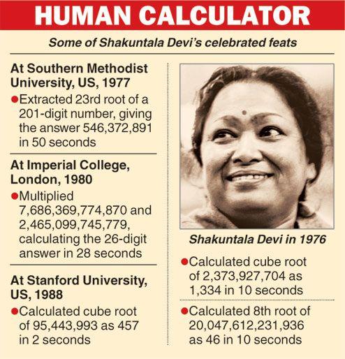 human computer Shakuntala Devi No more | Shakuntala devi, India ...