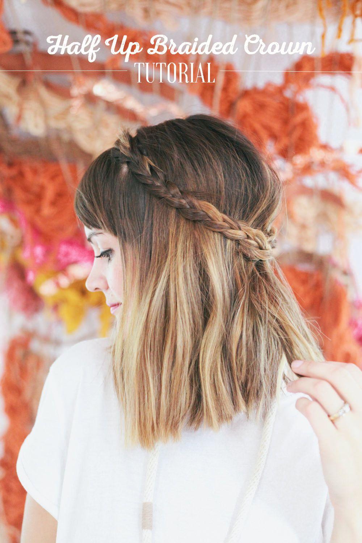 Halfupbraidedcrown my style pinterest hair style woman