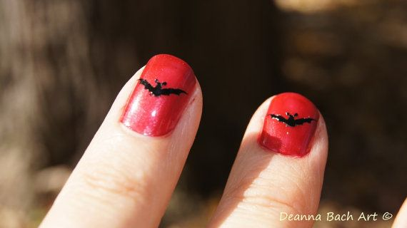 Bat Vinyl Decal for Nails by deannabachart