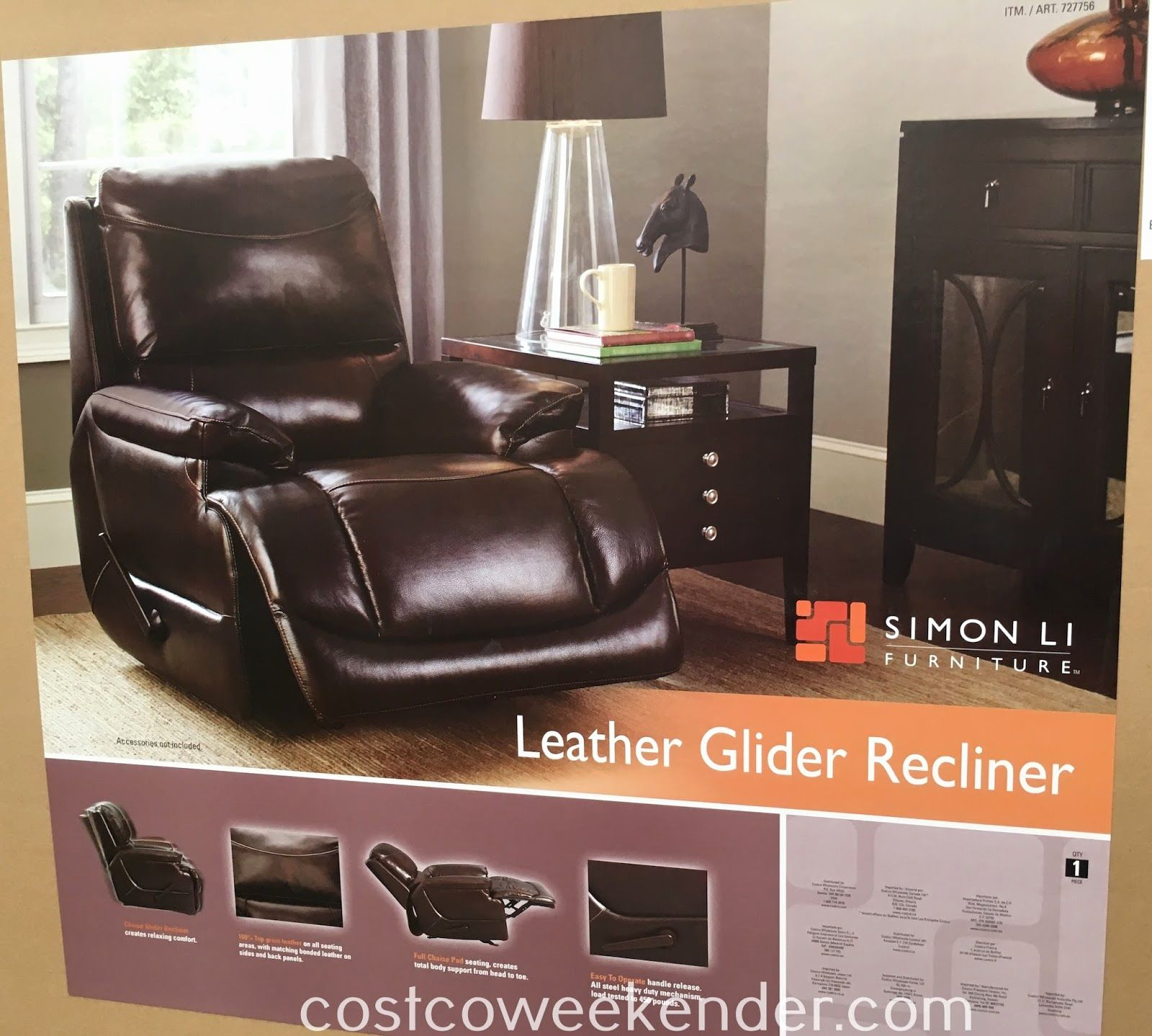 Lovely Simon Li Leather Sofa Costco Graphics New Glider Recliner Chair Weekender
