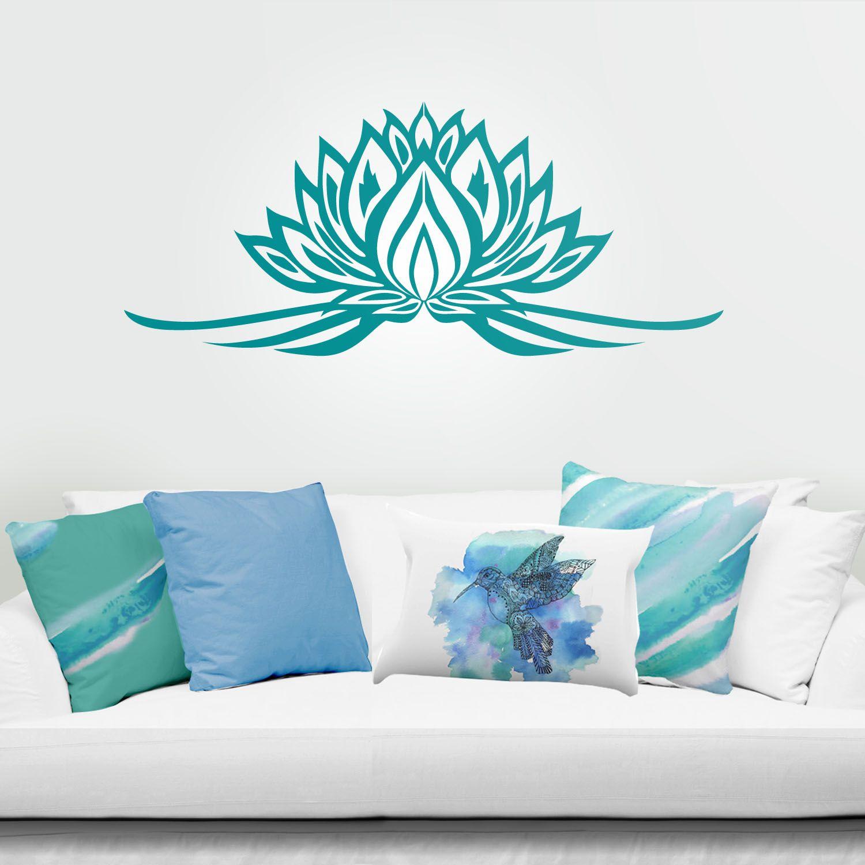 Vinilo decorativo de pared flor de loto Ideas decoraci n feng