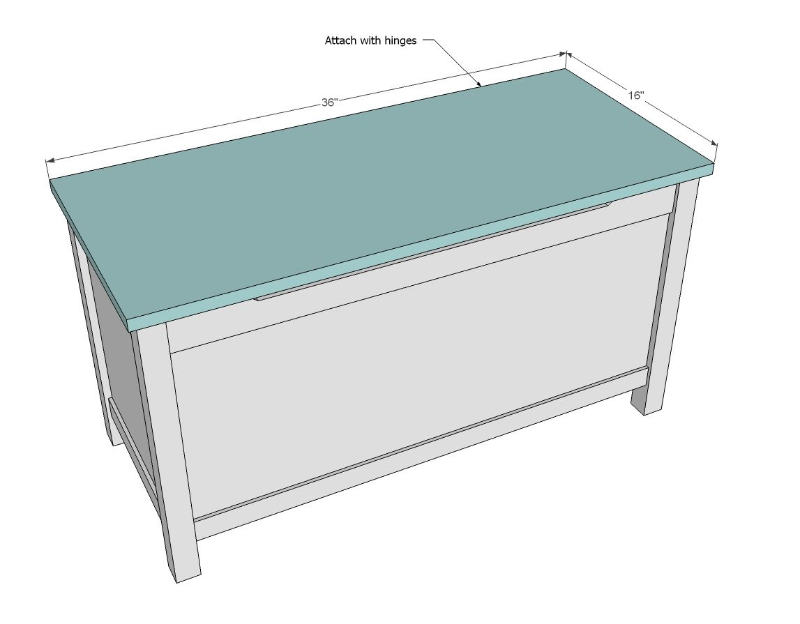 ana white | build a simple modern toy box with lid | free