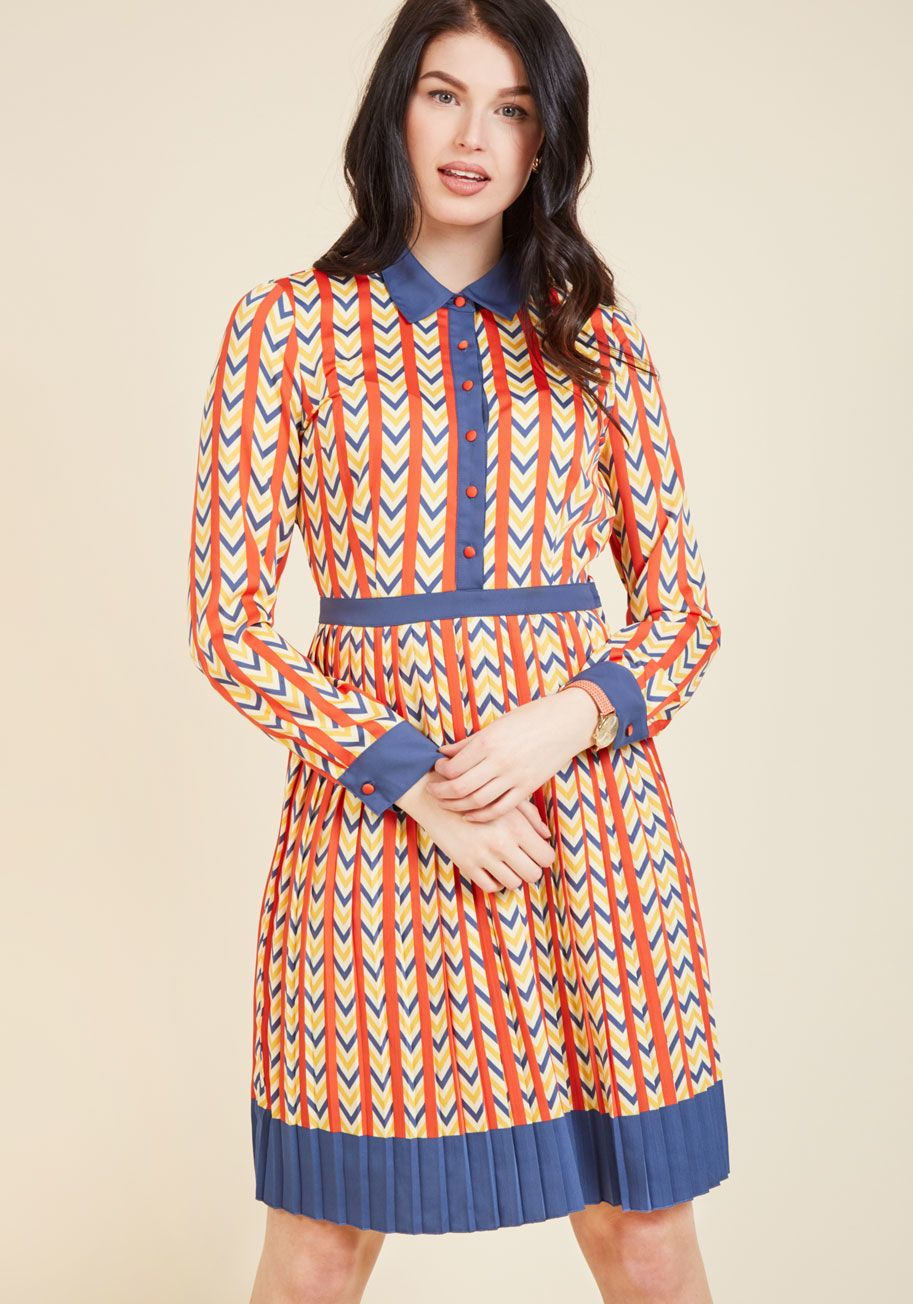 Just My Typist Long Sleeve Dress in 1x ModCloth