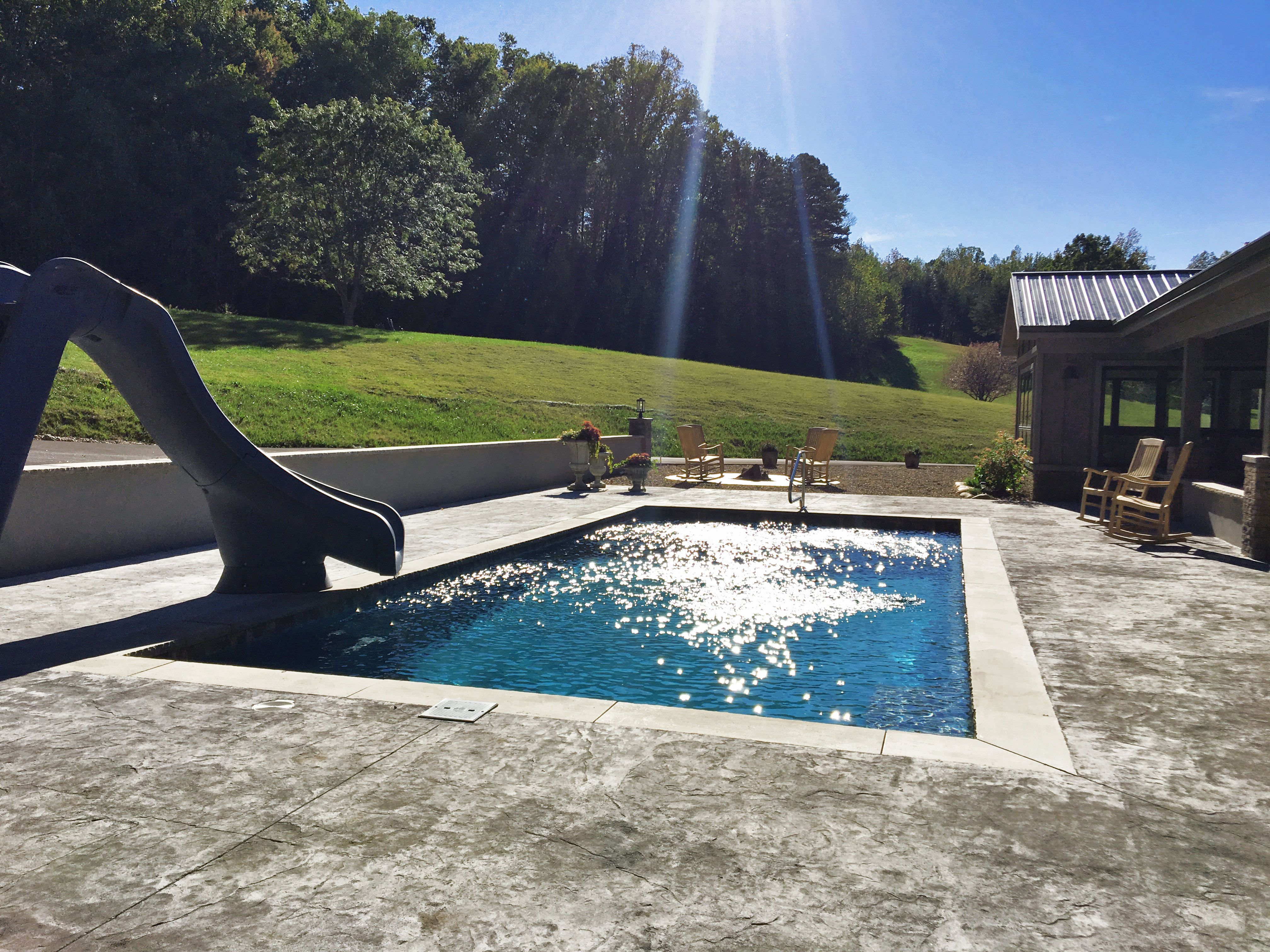The Newest Fiberglass Swimming Pool From Imagine Pools Is The Illusion Which Features A Full