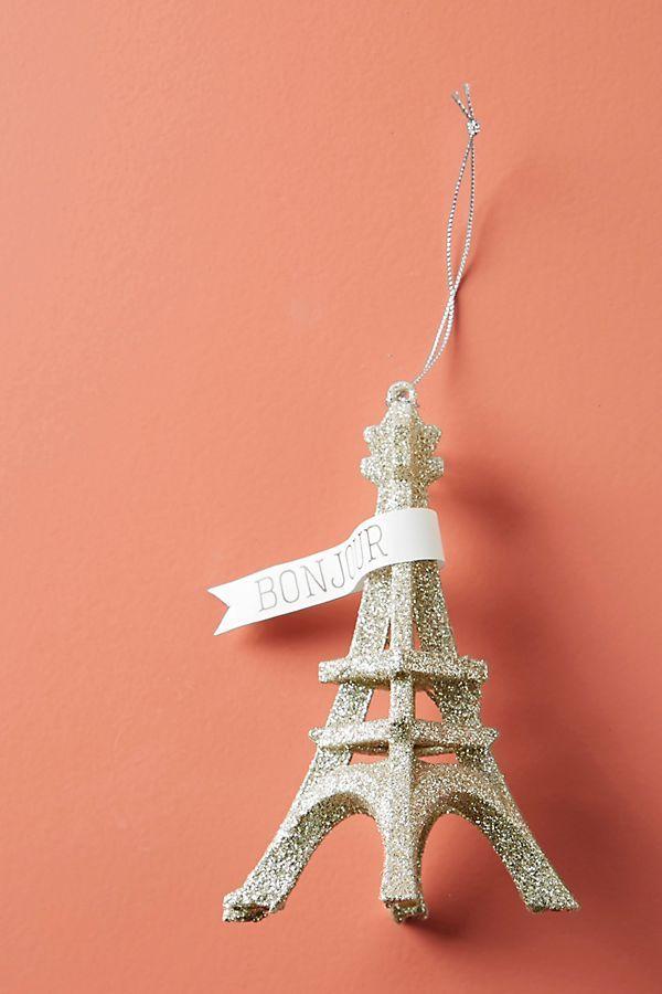 Glittery Eiffel Tower Ornament gift shop Pinterest Ornaments