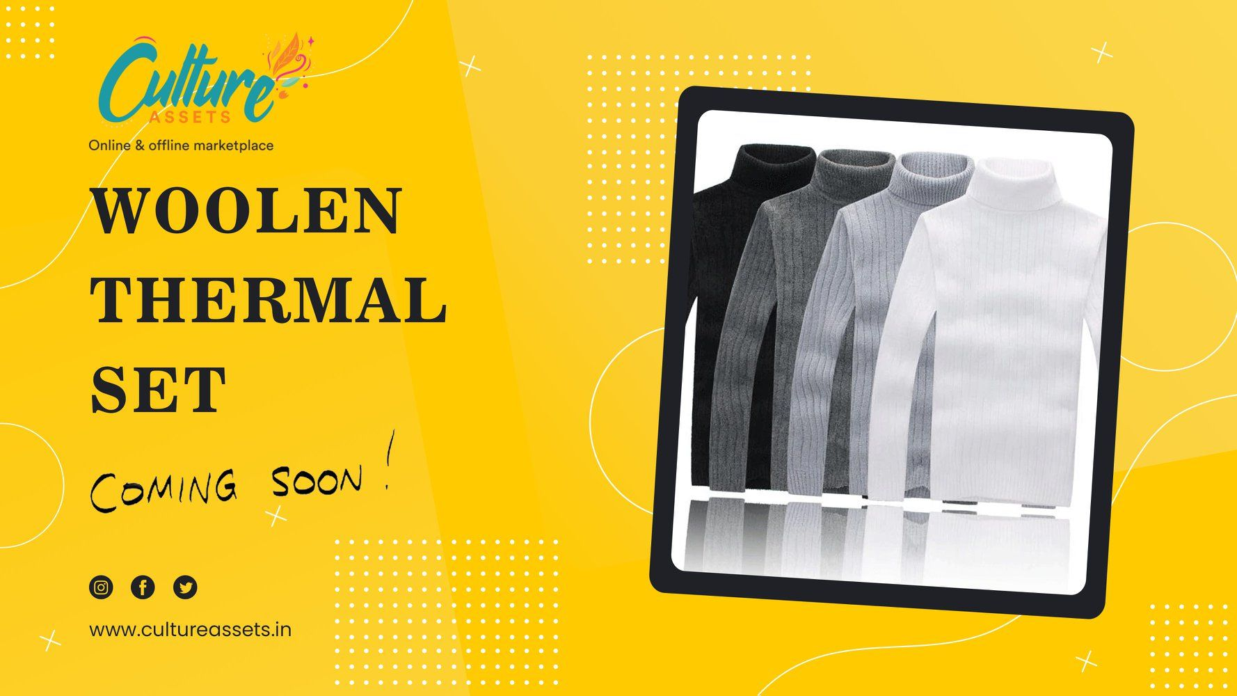 Shop from a wide range of Woolen Thermal online on Culture Assets. . . . . #woolen #wool #handmade #menstylesuit #woolendress #knitting #sweater #woolensweater #woolenscarf #woolensocks #woolenblanket #cashmere #woolencap #crochet #woolencoat #knitted #love #handcrafted #outfits #woolenjacket #woolenhat #indianwear #shirt #winterfashion #fashionsuits #woolenclothes #wedding #grooming #handtailored