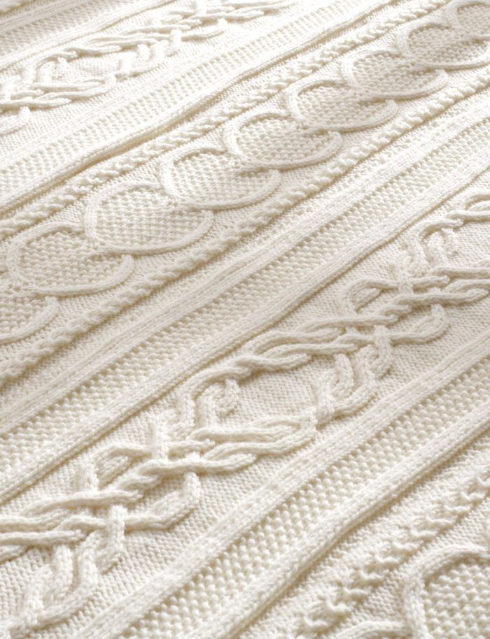 Free Knitting Pattern For Gift Of Love Cable Afghan Chain Of