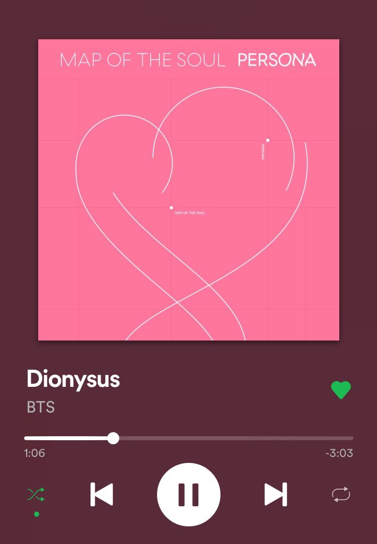 Dionysus, a song by BTS on Spotify | Album bts, Bts playlist, Bts lyrics quotes