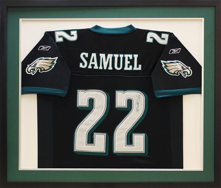 reputable site 93800 45952 Framed NFL Philadelphia Eagles Asante Samuel Football Jersey ...