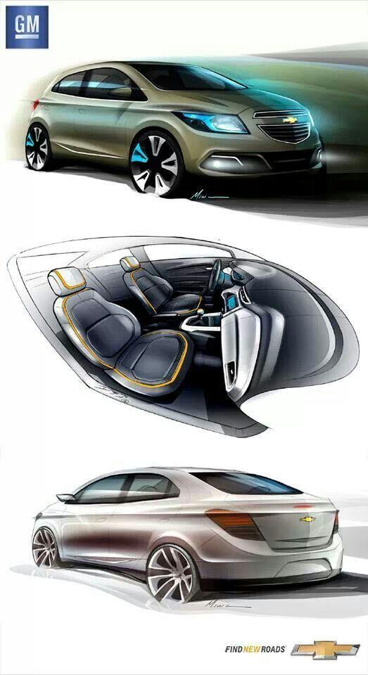 2013 Chevrolet Onixprisma Brasil Sketches Auto In 2018