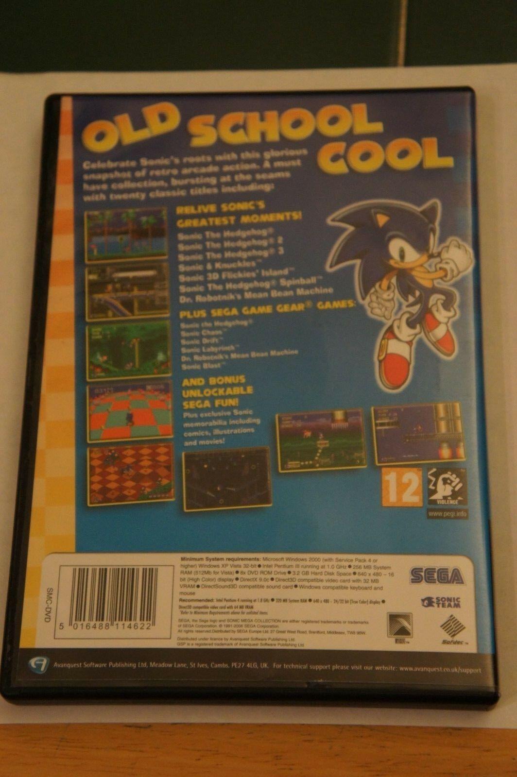Sonic Mega Collection Plus Pc Sega Dvd Rom 5060004767465 Ebay Sonic Classic Sonic Sega